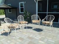 SET OF 4  Very High End/ Quality Patio Chairs