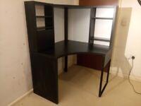 Modern Ikea MICKE Corner Workstation Desk Black Flat Pack Delivery Available C110020