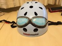 KIDDIMOTO SAFETY HELMET Blue with Goggles