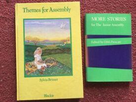 Three school assemblies books.