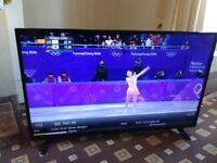 BUSH 48 LED TV FREEVIEW HD/MEDIA PLAYER/FULL HD 1080P/SLIM DESIGN/ NO OFFERS