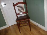 6 SOLID WOOD CHAIRS BARGAIN AT £20 FOR THE LOT BARGAIN