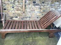 Wooden chaise sunloungers