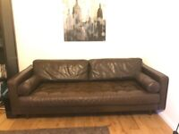 Made com 'Scott' 3 seater premium leather sofa