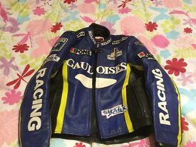 Miline Replica Superbike Motorcycle Jacket - Gauloises Blue and Yellow, Hardly ever Worn, £75