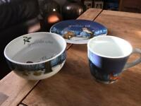Gruffalo cup, plate and bowl - good used condition with no chips