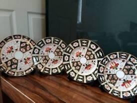 Royal crown derby 4 plates