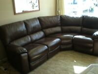 Leather Reclining Corner Suite electric operation