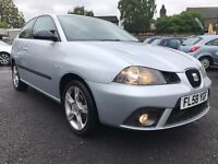 2008 SEAT IBIZA 1.4 SPORTRIDER * ONLY 49000 MILES + FULL MAIN DEALER SERVICE HISTORY +12 MONTHS MOT*