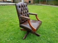 Antique chesterfield swivel chair