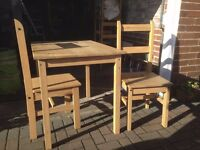 Table and four chairs set (Collection in Leeds or Manchester)