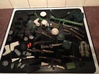 Vintage Action Man Clothes, Guns etc