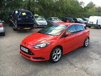 2014 63 FORD FOCUS ST-2 2.0 TURBO RED 5 DOOR DAMAGED SALVAGE REPAIRABLE