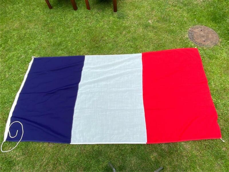 """Large French Flag, France, 106 x 52"""", Stitched Cotton"""