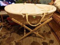 MOSES BASKET AND STAND CHOICE OF TWO