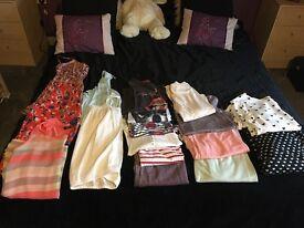 Large bundle ladies clothes/bags/boots 8-10