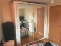 White Sliding Door Wardrobe with 2 Full Mirrors