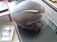 black AGV helmet, size XS