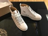 Louboutin White hitop trainers size 7