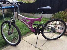 Two girls mountain bikes