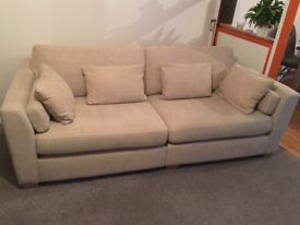 Large sofa, seats up to 4, neutral colour, comfy and good condition!