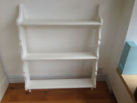 VINTAGE WALL SHELVES PAINTED WHITE