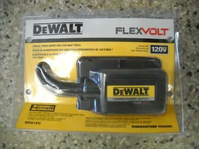 DEWALT DCA120 FLEXVOLT 120-Volt Cordless to Corded Power Supply AC Adapter NEW