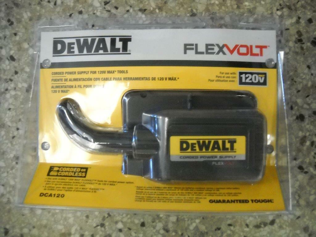 Dewalt DCA120 120V Corded Power Supply Adapter