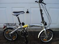 Silver Adults Fold - Up commuter Bike