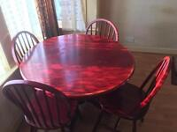 Wooden Table and four chairs, moving house £60