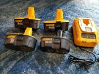 Dewalt battery charger and batteries
