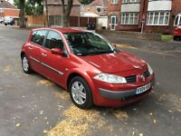 RENAULT MEGANE 1.5 DIESEL 04 FULL SERVICE HISTORY 2 OWNER 3 KEY CARDS 5 DOOR GOOD RUNNER P/X WELCOME