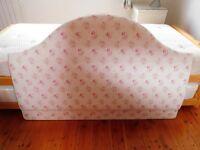Beautiful bespoke padded double headboard, hardly used, original cost ~£300