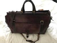 Camel Leather Weekend Holdall