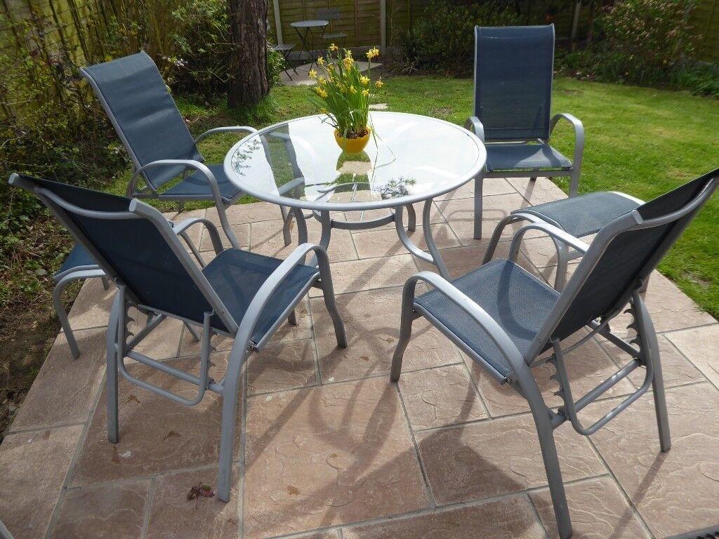 Garden furniture set light weight anti rust metal frame