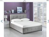 Hygena Eros Grey Ottoman Bed Frame - Kingsize