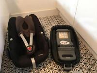 Maxi cosi pebble car seat and maxi cosi family fix isofix