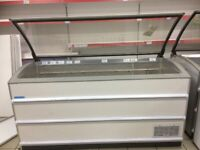 NOVUM (601L) GLASS LID COMMERCIAL/CATERING CHEST FREEZER IN GOOD WORKING CONDITION