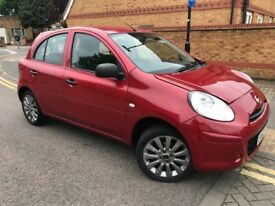 2012 Nissan Micra 1.2 12V Visia 5 Doors Petrol Low Mileage 1 Year MOT Clean Car £30 Road Tax /Year