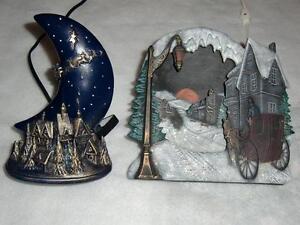 2 Beautiful Decorative Ceramic Christmas Lamps - Like New