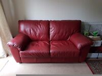 Used Wine Red Double Sofa