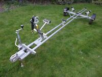 Snipe Boat Trailer with New Wheels, Tyres and Bearings