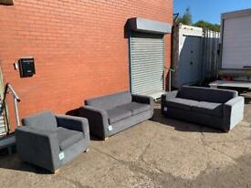 Grey Modern Sofa set 3/3/1 seaters delivery 🚚 sofa suite couch furniture