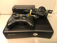 Microsoft Xbox 360 S Black Console - Spares or Repair