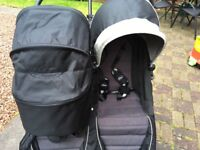 Babyjogger carrycot with single and double adaptors