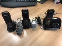 Panasonic Cordless Phones x 3