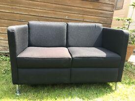 X2 Black Office Style Sofa
