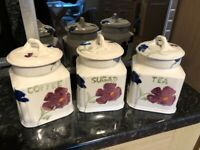 Royal Winton set of 3 storage jars