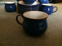 Denby Imperial Blue Coffee Cups and Saucers (x 8) Perfect condition £20 for all