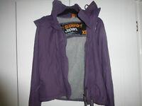 Superdry Windcheater, Purple size XS